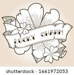 lucky charm four leaf clovers... | Shutterstock .eps vector #1661972053