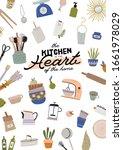 stylish scandinavian kitchen... | Shutterstock .eps vector #1661978029