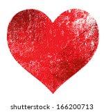 vector grunge heart | Shutterstock .eps vector #166200713