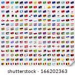 set wavy flags | Shutterstock . vector #166202363