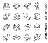 space and astronomy line icons...   Shutterstock .eps vector #1662044320