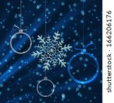 sparkling snowflake and...   Shutterstock . vector #166206176