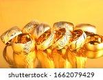 Elegant Gold Bracelets. Yellow...