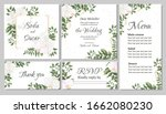 vector floral template for... | Shutterstock .eps vector #1662080230