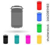 mini van multi color style icon....