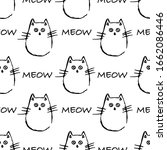 seamless pattern with cute... | Shutterstock .eps vector #1662086446