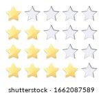 set golden rating stars with... | Shutterstock .eps vector #1662087589