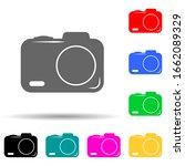 camera multi color style icon....