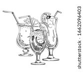 composition with alcoholic... | Shutterstock .eps vector #1662096403