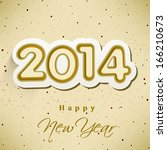 happy new year 2014 celebration ... | Shutterstock .eps vector #166210673