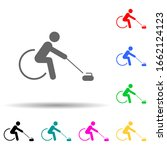 wheelchair curling sign multi...