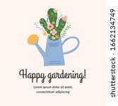 gardening typography card with... | Shutterstock .eps vector #1662134749