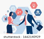 cooperation. business persons... | Shutterstock .eps vector #1662140929