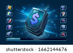 money icon for 2d game and... | Shutterstock .eps vector #1662144676