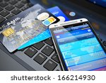 mobile banking  financial... | Shutterstock . vector #166214930