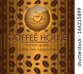 vintage style coffee house menu ... | Shutterstock .eps vector #166215899