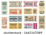 horse racing ticket vector... | Shutterstock .eps vector #1662167089