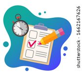education flat icon set for... | Shutterstock .eps vector #1662167626