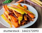 Carrots. Roasted Caramelized...