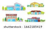 vet clinic buildings ...   Shutterstock .eps vector #1662185419