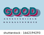 modern 3d font and alphabet for ...   Shutterstock .eps vector #1662194293