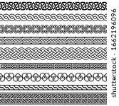 celtic vector semaless border... | Shutterstock .eps vector #1662196096