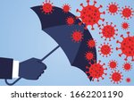 hand holding an umbrella... | Shutterstock .eps vector #1662201190