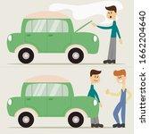 flat cartoon scenes presents... | Shutterstock .eps vector #1662204640