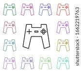 gamepad multi color style icon. ...
