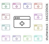 webpage medical multi color...