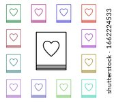 book with heart multi color...