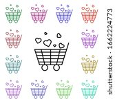 shopping cart with heart multi...