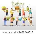 cartoon happy young men and...   Shutterstock .eps vector #1662246313