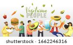 cartoon joyful vegetarian...   Shutterstock .eps vector #1662246316