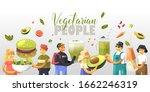 cartoon happy vegetarian...   Shutterstock .eps vector #1662246319