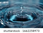 Isolated One Or Two Water Drops