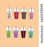 bubble tea clip art illustration | Shutterstock .eps vector #1662259099