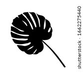black silhouette of tropical... | Shutterstock .eps vector #1662275440