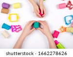 children hands playing with... | Shutterstock . vector #1662278626