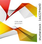 color abstract geometric banner ... | Shutterstock . vector #1662294640