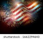 united states flag. fireworks... | Shutterstock . vector #1662294643
