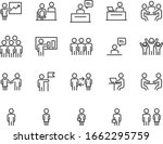 set of business icons  teamwork ... | Shutterstock .eps vector #1662295759