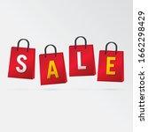 vector sale bag template design.   Shutterstock .eps vector #1662298429