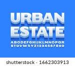 vector modern logo urban estate.... | Shutterstock .eps vector #1662303913