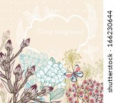 vector floral illustration of... | Shutterstock .eps vector #166230644