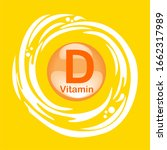 vitamin d icon with sun.... | Shutterstock . vector #1662317989