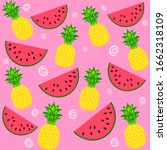 seamless pattern with... | Shutterstock . vector #1662318109