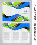 vector brochure design | Shutterstock .eps vector #166231940