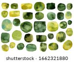 abstract yellow green round... | Shutterstock . vector #1662321880