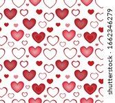 simple red heart seamless... | Shutterstock .eps vector #1662346279